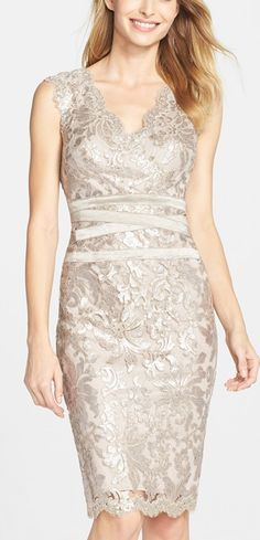 Champagne Sheath Dress