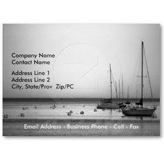 Yachts II business card template