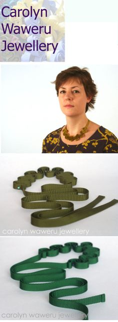 Gorgeous green grosgrain ribbon necklaces