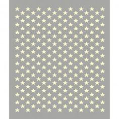 Tapis gris étoiles blanches Lorena Canals collection acrylique