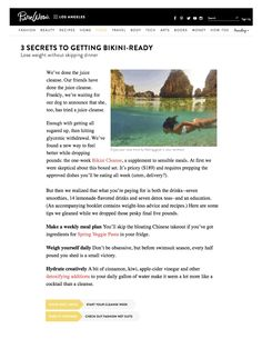 Bikini Cleanse featured on Pure Wow!  http://www.purewow.com/entry_detail/la/13920/A-one-week-diet-in-a-box-gets-you-bikini-ready.htm