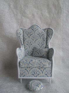 """Кресло ( с высокой спинкой ) и танкеткой """" Элия """" Для кукол от 22 до 33 см. / Кукольная мебель / Шопик. Продать купить куклу / Бэйбики. Куклы фото. Одежда для кукол"""