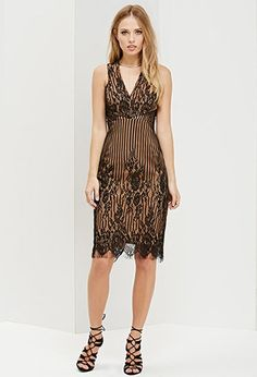 Ministry of Style Bleaker Pencil Lace Dress   Forever 21 - 2000180471