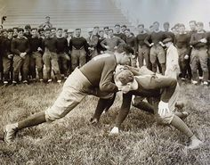 Babe Ruth Playing Football. Notre Dame. 1920's
