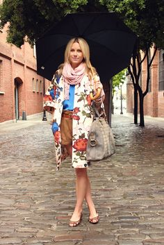 Missoni coat. Love the whole outfit minus the flats!!!!T