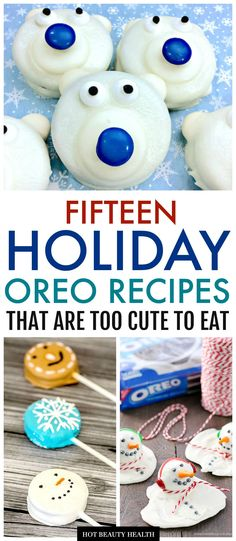 15 Best Holiday Oreo Cookie Recipes – Hot Beauty Health Looking for holiday dessert and treat ideas to serve at Christmas parties or gift away? Get inspired with these holiday oreo cookie recipes! From cookie pops and brownies to fudge and truffles! Christmas Desserts, Holiday Treats, Christmas Treats, Christmas Baking, Christmas Parties, Holiday Fun, Holiday Recipes, Christmas Truffles, Christmas Fudge