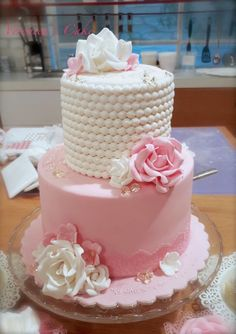 Mini wedding cake by Wedding Cake Pearls, Mini Wedding Cakes, Mini Cakes, Cupcake Cakes, Cupcakes, 22nd Birthday Cakes, Birthday Cakes For Women, Beautiful Birthday Cakes, Beautiful Cakes