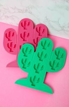 Sunnylife - Cactus Ice Trays - Pink/Green | Apartment | Peppermayo