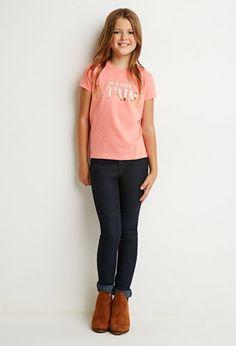 Forever 21 girls skinny jeans.