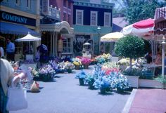 Flower Market on Main St., 1965.