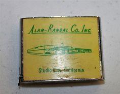 Vtg Alan Randal Co Studio City CA Measuring Tape The W Line USA