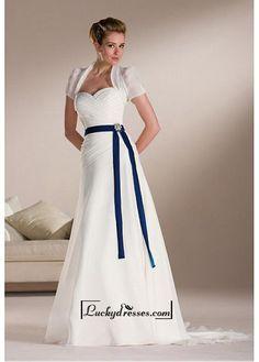 Beautiful Elegant Chiffon Sweetheart Wedding Dress