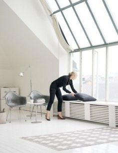 Modern Home Decor Bedroom Home Decor Bedroom, Radiator Cover, Home, Interior Furniture, Home Radiators, Heater Cover, Modern House, House Interior, Window Benches