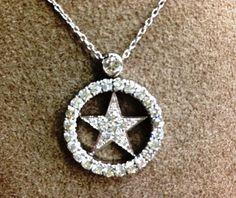 Diamond Texas Star Pendant