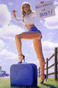 """Blonde, White, and Blue"" is #41 in Greg Hildebrandt's exclusive series of pinups."