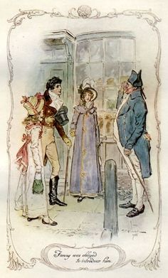 Fanny was obliged to introduce him -Mansfield Park - Jane Austen / CE Brock