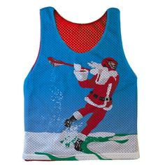 Guys Lacrosse Full Coverage Pinnie Santa Laxer   ChalkTalkSPORTS