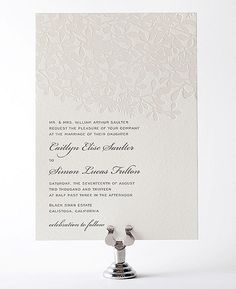 Midsummer Letterpress Wedding Invitation