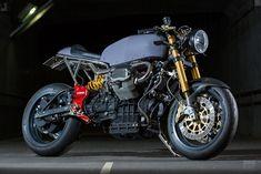 Katsu Motorworks: кафе рейсер Moto Guzzi V11 Sport Scura