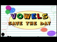 Vowels Save The Day.great You Tube video for first grade! Phonics Videos, Phonics Song, Phonics Words, Vowel Song, Kindergarten Reading, Teaching Reading, Teaching Ideas, Kindergarten Teachers, Teaching Vowels