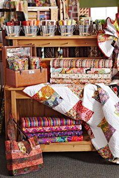 """Fun portable projects and original quilt """"recipes"""" capture curiosities at The Quilted Forest in Forest City, Iowa."""