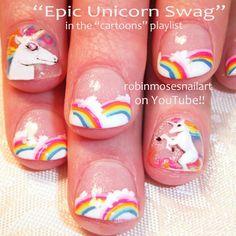 awesome unicorn nails - Photo by robinmosesnailart