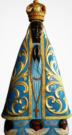 A modern copy of the miraculous statue of Our Lady of Aparecida.