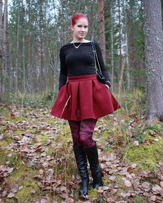 """38 Likes, 1 Comments - Milla (@vivianmslb) on Instagram: """"🍁🍁🍁 #autumn #leaves #syksy #bloggerstyle #style #kalevalakoru #nelly #sixthjune #bullboxer #boots…"""""""