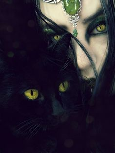 A witch and her familiar.....