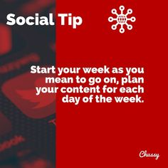 It's Monday, time to plan your #socialmedia content for the whole week. Spend time today planning and scheduling posts as this will free up time in the week for other business-related matters 👍🏻 .