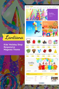 Magento Template , Lantiana - Party Supplies