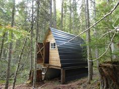 96 sq. ft. ski cabin in the Rockies near Golden, Colorado. Submitted by Lane Clark