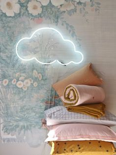 Super chic neon cloud nursery decor | chic French nursery inspo