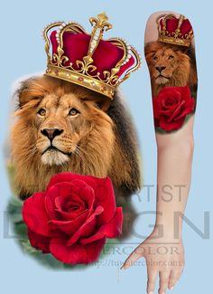 Lion King Design - Tú Watercolor