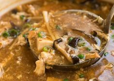 Image of Hot and Soup Soup being ladled out of a pot, fresh off the stove Chinese Corn Soup, Chinese Food, Sweet And Sour Soup, Calamari Recipes, Bread Soup, Mushroom Soup Recipes, Recipetin Eats, Soup And Sandwich, Roasted Vegetables