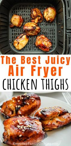 The best air fryer boneless and skinless chicken thighs. These delicious chicken thighs are marinated in a super easy Asian honey soy sauce. Theyre completely unbreaded and get a nice grill taste. Air Fryer Recipes Breakfast, Air Fryer Oven Recipes, Air Fryer Dinner Recipes, Air Fry Recipes, Fried Chicken Thighs Boneless, Honey Soy Chicken Thighs, Marinated Chicken Thighs, Air Fryer Recipes Chicken Thighs, Chicken Recipes