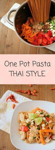 Schnell, einfach, lecker!! Rezeptfür One Pot Pasta -Thai Style