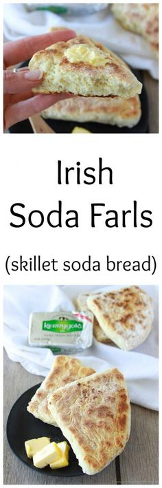 Irish Soda Farls is a quick and simple soda bread that cooks in a skillet! www.cookingwithru...