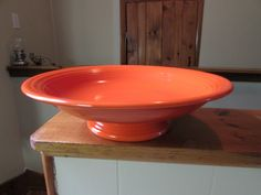 Vintage Art Deco Fiesta Ware Fiesta Red Footed Compote Bowl
