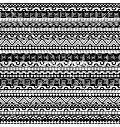 Abstract contrats ethnic pattern vector by KsanasK on VectorStock®