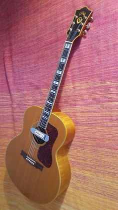 Guild w/ DeArmond soundhole pickup Guitar Amp, Cool Guitar, Guild Acoustic Guitars, Taylor Guitars, Music Instruments, Vintage, Musik, Musical Instruments, Vintage Comics