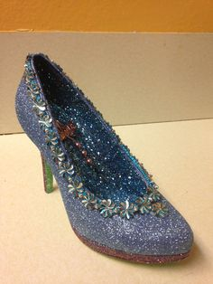 Classic blue- a Christmas shoe!  created by Glitter365