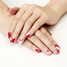 We heart this Queen of Hearts inspired mani! Click through for full tutorial on @eHow