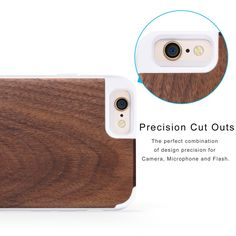 Amazon.co.uk: iPhone 6 / 6s Case | iCASEIT Handmade Premium Quality Genuinely Natural & Unique Wood Case Slim Profile | Strong & Stylish Snap on Back Bumper | Non-Slip, Precise Fit | Walnut / White: Cell Phones & Accessories