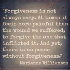 re-read what it says...move forward...forgive so you can continue to live.