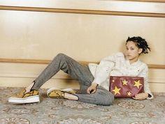Kiko Mizuhara wearing our crochet jumper, Corinne Loafers + Cavendish Clutch in IT Love Magazine. #StellasWorld