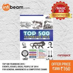 Top 500 YEARBOOK 2015 for General Awareness & Competitive Exams at Lowest Rate from Infibeam's MagicBox !   Assuring Lowest Price in Magic Box Deals!   HURRY ! OFFER ENDS TODAY MIDNIGHT !  #MagicBox #Deals #DealOfTheDay #Offer #Discount #LowestRates #Top500 #YEARBOOK2015 #GeneralAwareness #CompetitiveExams