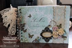 pictures of shabby chic mini albums - Google Search