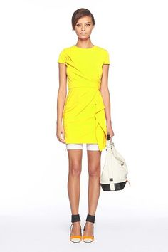 Love this DVF Alba Dress in Daffodil...hows that for some sunshine Illinois! take that!!!