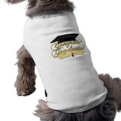 Congrats Graduate with #Diploma and #Graduation hat Dog Tshirt by #PLdesign #GraduationGift #CongratsGraduate